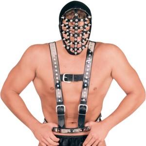 ledapol 5014 sm herre bryst sele læder - gay harness