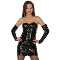 ledapol 1008 vinyl mini kjole - korte lak kjole fetish