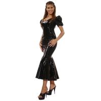 ledapol 1052 vinyl kjole - lange lak kjole fetish