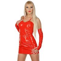ledapol 1099 vinyl mini kjole - lak korte kjole fetish