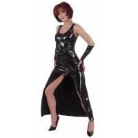 ledapol 1117 vinyl kjoler - lak lange kjoler fetish