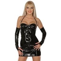 ledapol 1193 vinyl mini kjole - korte lak kjole fetish