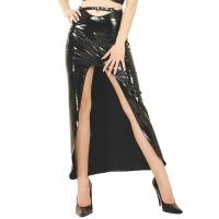 ledapol 1203-1 vinyl lang nederdel - lak nederdele fetish