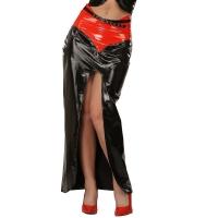 ledapol 1203-R vinyl lang nederdel - lak nederdele fetish