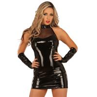 ledapol 1277 vinyl mini kjole - lak korte kjole fetish