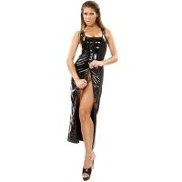 ledapol 1351 vinyl kjoler - lak lange kjoler fetish