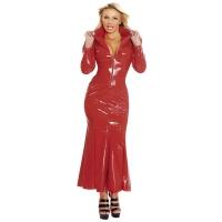 ledapol 1389 vinyl kjole - lange lak kjole fetish