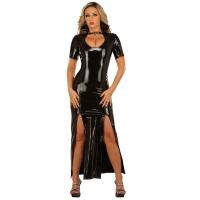 ledapol 1446 vinyl kjole - lange lak kjole fetish