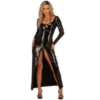 ledapol 1449 vinyl kjole - lange lak kjole fetish