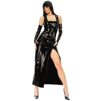 ledapol 1455 vinyl kjole - lange lak kjole fetish