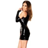 ledapol 1460 vinyl mini kjole - lak korte kjole fetish