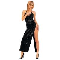 ledapol 1473 vinyl kjole - lange lak kjole fetish