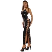 ledapol 1530 vinyl kjole - lange lak kjole fetish