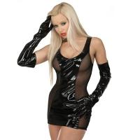 ledapol 1549 vinyl mini kjole - korte lak kjole fetish