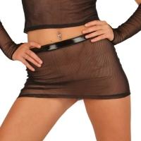 ledapol 1584 sexet net mini nederdel - dame nederdel