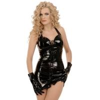 ledapol 1605 vinyl mini kjole - korte lak kjole fetish