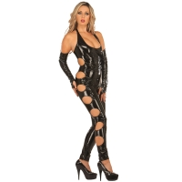 ledapol 1621 vinyl catsuit - patent overall fetish