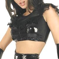ledapol 1646 vinyl bluse - lak bluse
