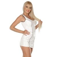 ledapol 1666 vinyl mini kjole - korte lak kjole fetish