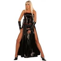 ledapol 1731 vinyl kjole - lange lak kjole fetish