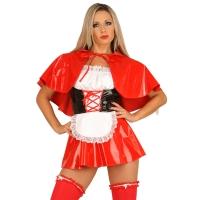 ledapol 1750 vinyl mini kjole - korte lak kjole fetish
