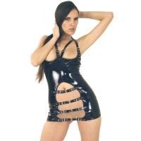 ledapol 1765 vinyl mini kjole - korte lak kjole fetish