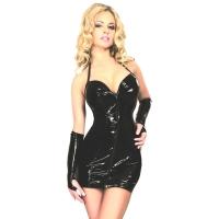 ledapol 1799 vinyl mini kjole - lak korte kjole fetish