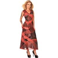 ledapol 2284 latex cocktail kjole - 3D-printet latex lang kjole