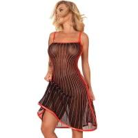 ledapol 2285 latex cocktail kjole - 3D-printet latex kort kjole