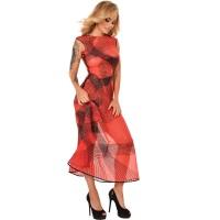 ledapol 2285 latex cocktail kjole - 3D-printet latex lang kjole