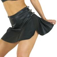 ledapol 276 læder mini nederdel - dame korte nederdele