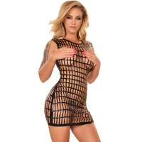 ledapol 2964 latex mini kjole - 3D-printet latex kort kjole