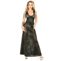 ledapol 2985-2 latex cocktail kjole - 3D-printet latex lang kjole