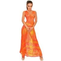 ledapol 2986 latex cocktail kjole - 3D-printet latex lang kjole