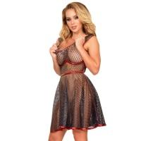 ledapol 2987 latex cocktail kjole - 3D-printet latex kort kjole