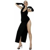 ledapol 3005 stretch kjole - lange stoffer kjole fetish