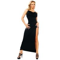 ledapol 3026 stretch kjole - lange stoffer kjole fetish