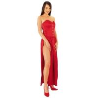 ledapol 3067 lange kjole - satin kjole - fetish corsagekjole
