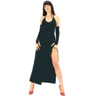 ledapol 3068 stretch kjole - lange stoffer kjole fetish
