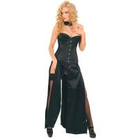 ledapol 3069 lange kjole - satin kjole - fetish corsagekjole