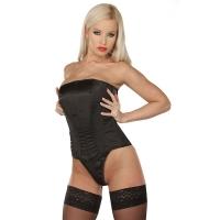 ledapol 3078 satin overbust corset - stoffer korsetter