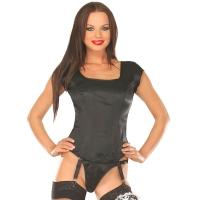 ledapol 3089 satin overbust corset - stoffer korsetter