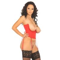 ledapol 3121 satin underbust corset - stoffer korsetter