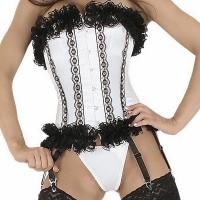 ledapol 3126 satin overbust corset - stoffer korsetter