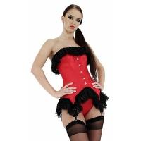 ledapol 3140 satin overbust corset - stoffer korsetter