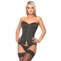 ledapol 3160 satin overbust corset - stoffer korsetter