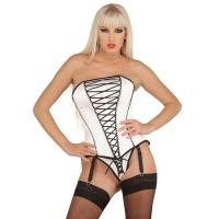 ledapol 3179 satin overbust corset - stoffer korsetter