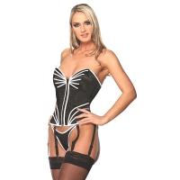 ledapol 3194 satin overbust corset - stoffer korsetter