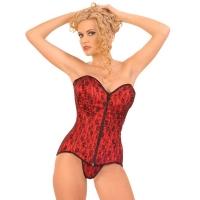 ledapol 3210 satin overbust corset - stoffer korsetter