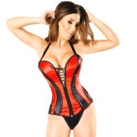ledapol 3220 satin overbust corset - stoffer korsetter